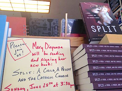 Gave away a copy of SPLIT at Island Books